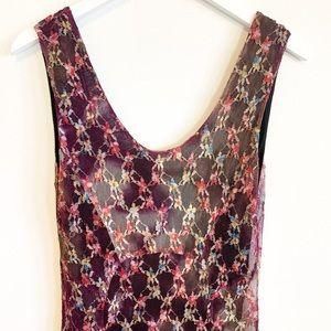 BOGO! Free People Floral Lace Maxi Dress L